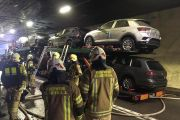 Lkw Brand im Arlbergtunnel